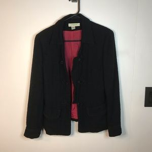Ann Taylor Black Wool Jacket Blazer Suit Top